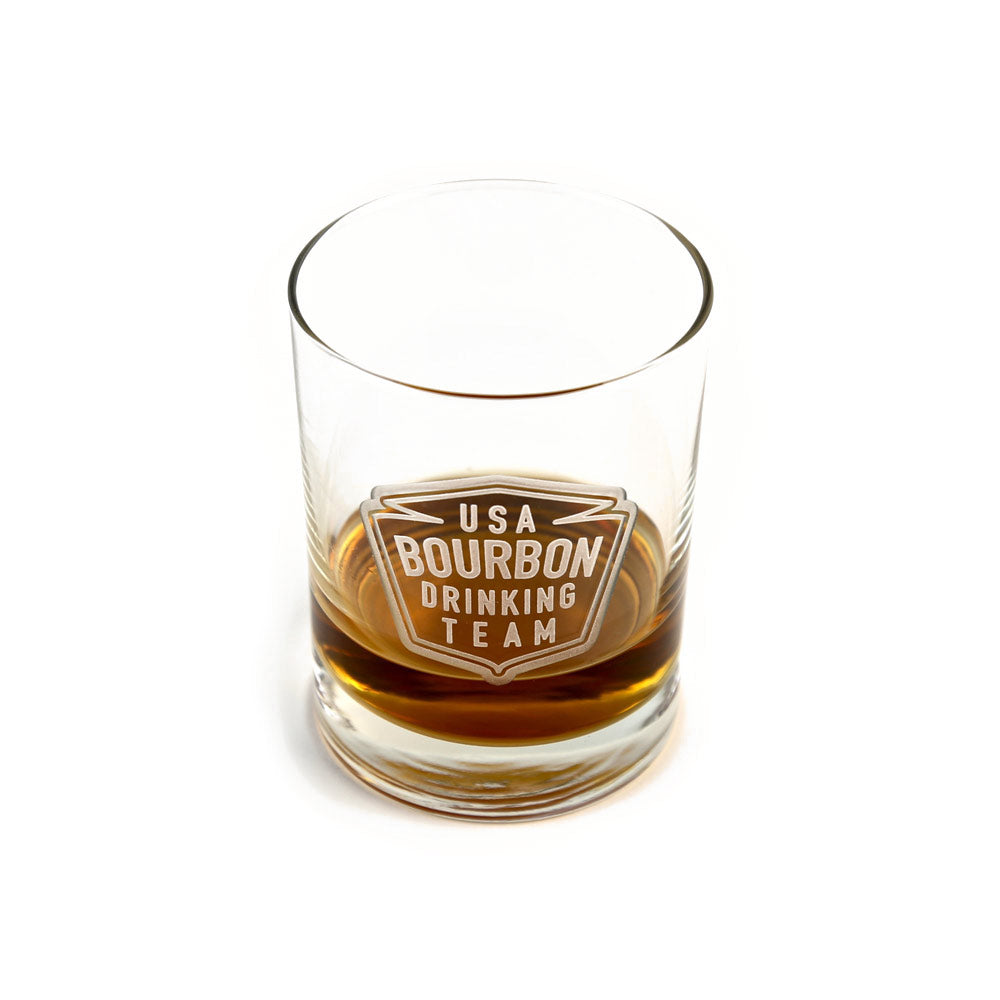 USA Bourbon Drinking Team Bourbon Glass-Glass-KY for KY Store