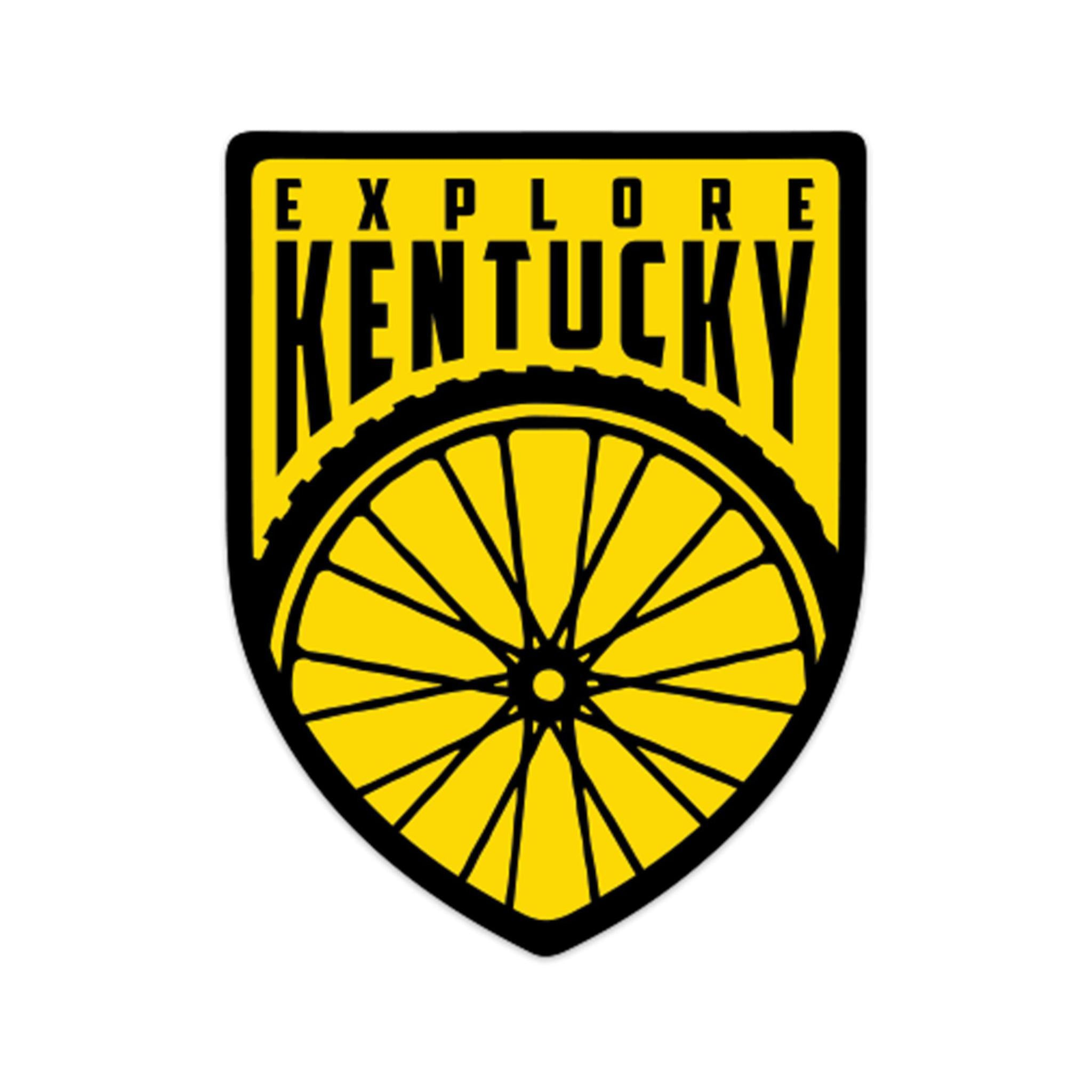 Explore Kentucky's Cycling Sticker (Yellow)-Stickers-KY for KY Store