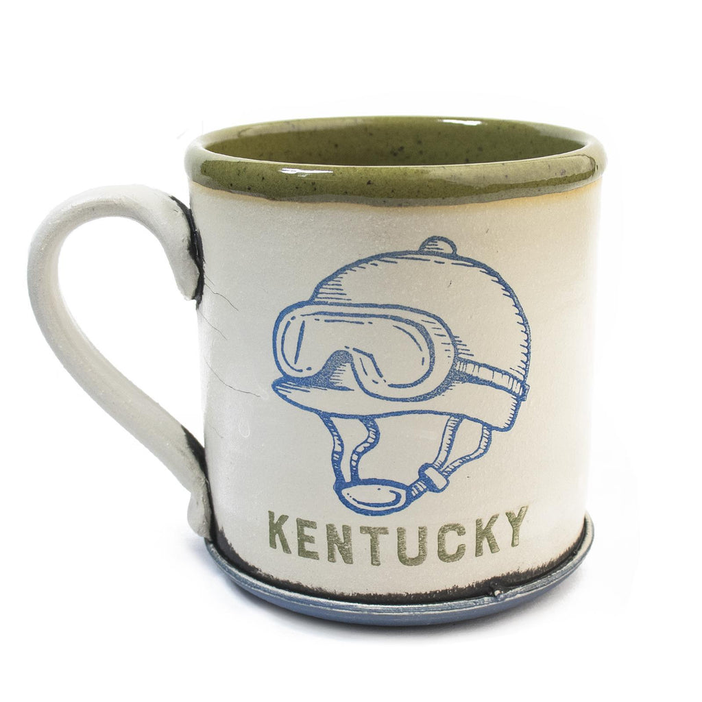 Kentucky Jockey Mugs by David Kenton Kring-Glass-KY for KY Store
