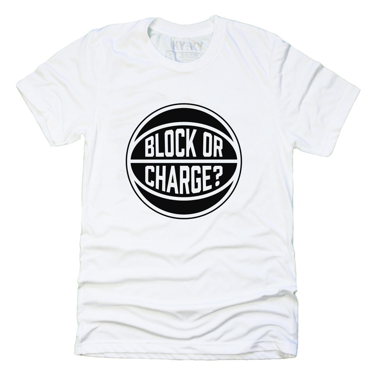 Black Lives Matter Block Or Charge T-Shirt (White)-blockorcharge-KY for KY Store