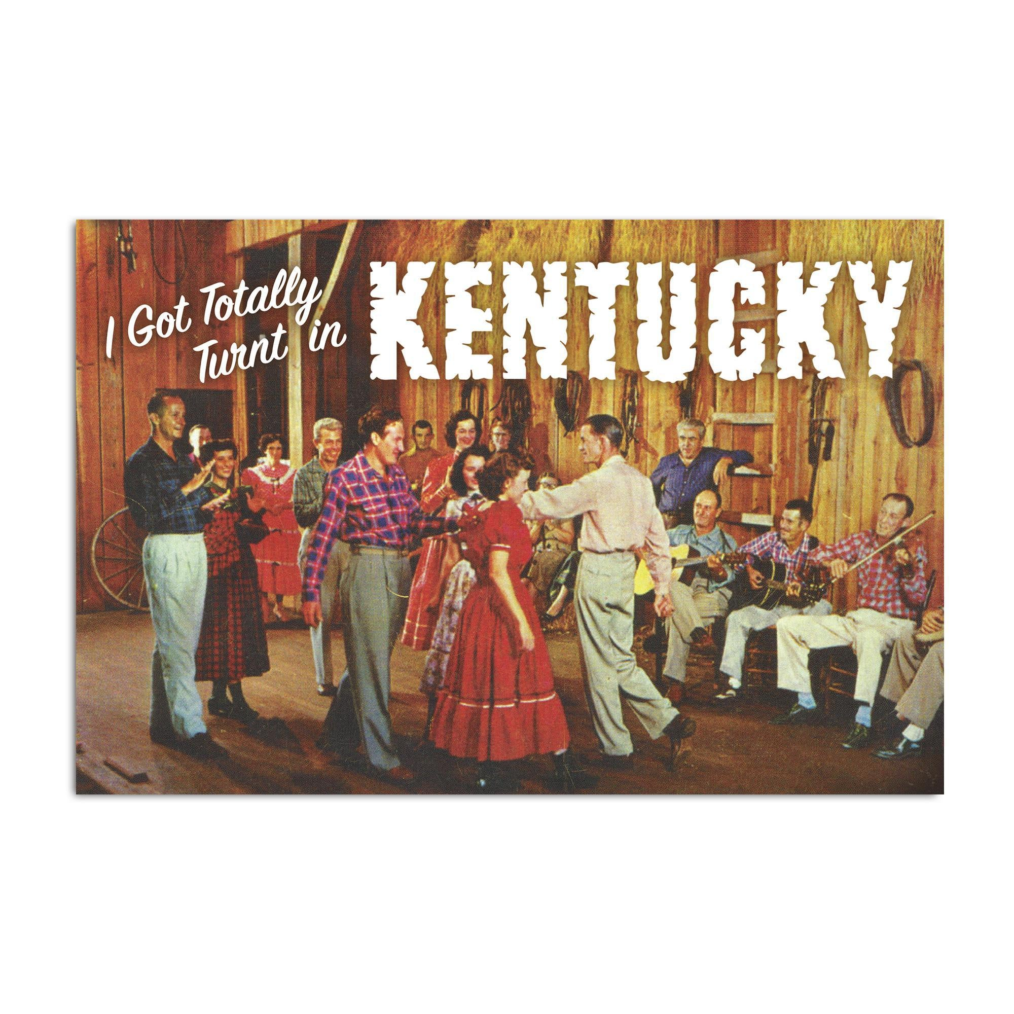 Turnt In Kentucky Postcard-Odds and Ends-KY for KY Store