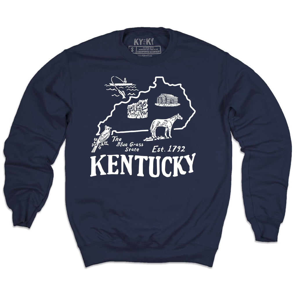 Kentucky Pennant Sweatshirt-Sweatshirt-KY for KY Store