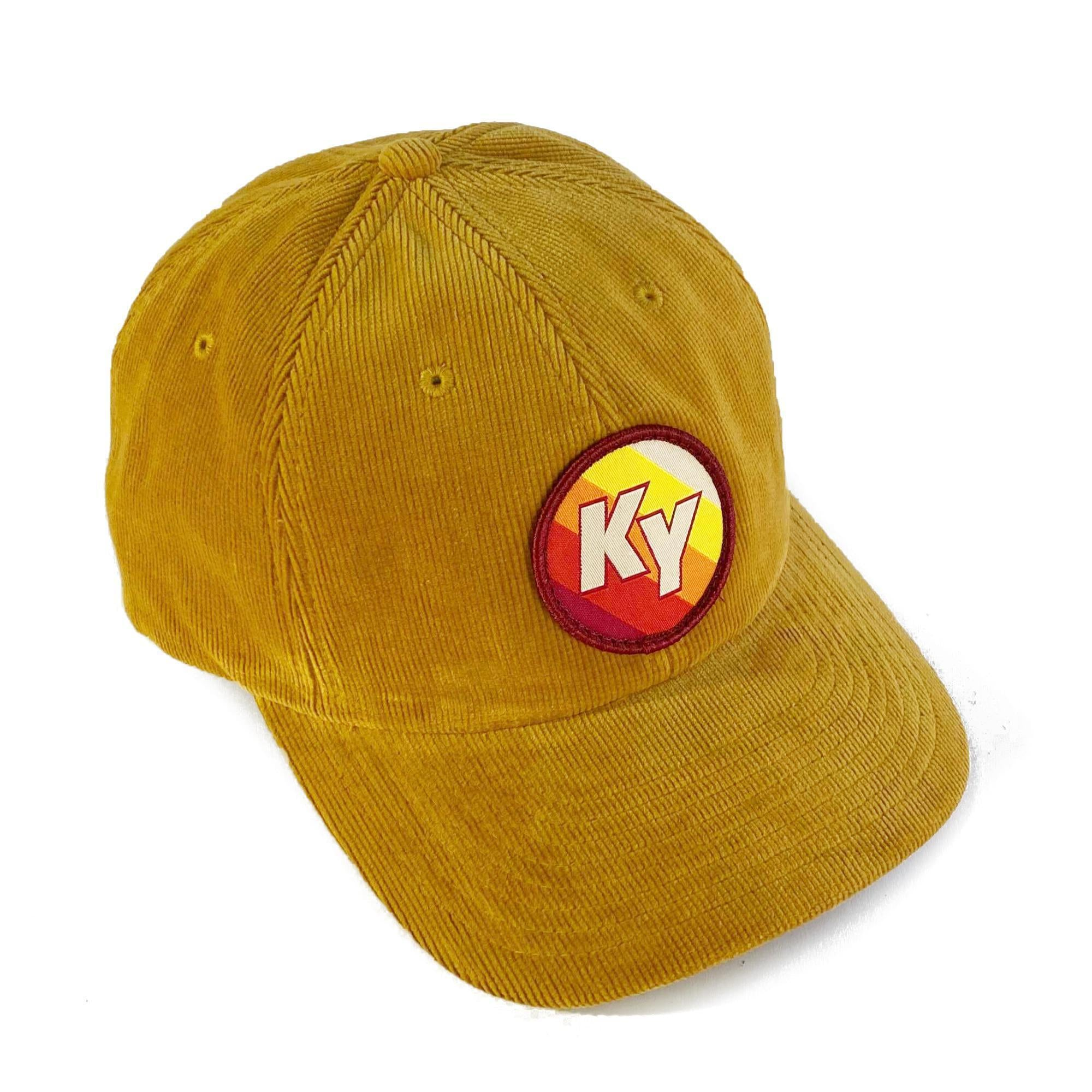 Ky Corduroy Dad Hat (Yellow)-Hat-KY for KY Store