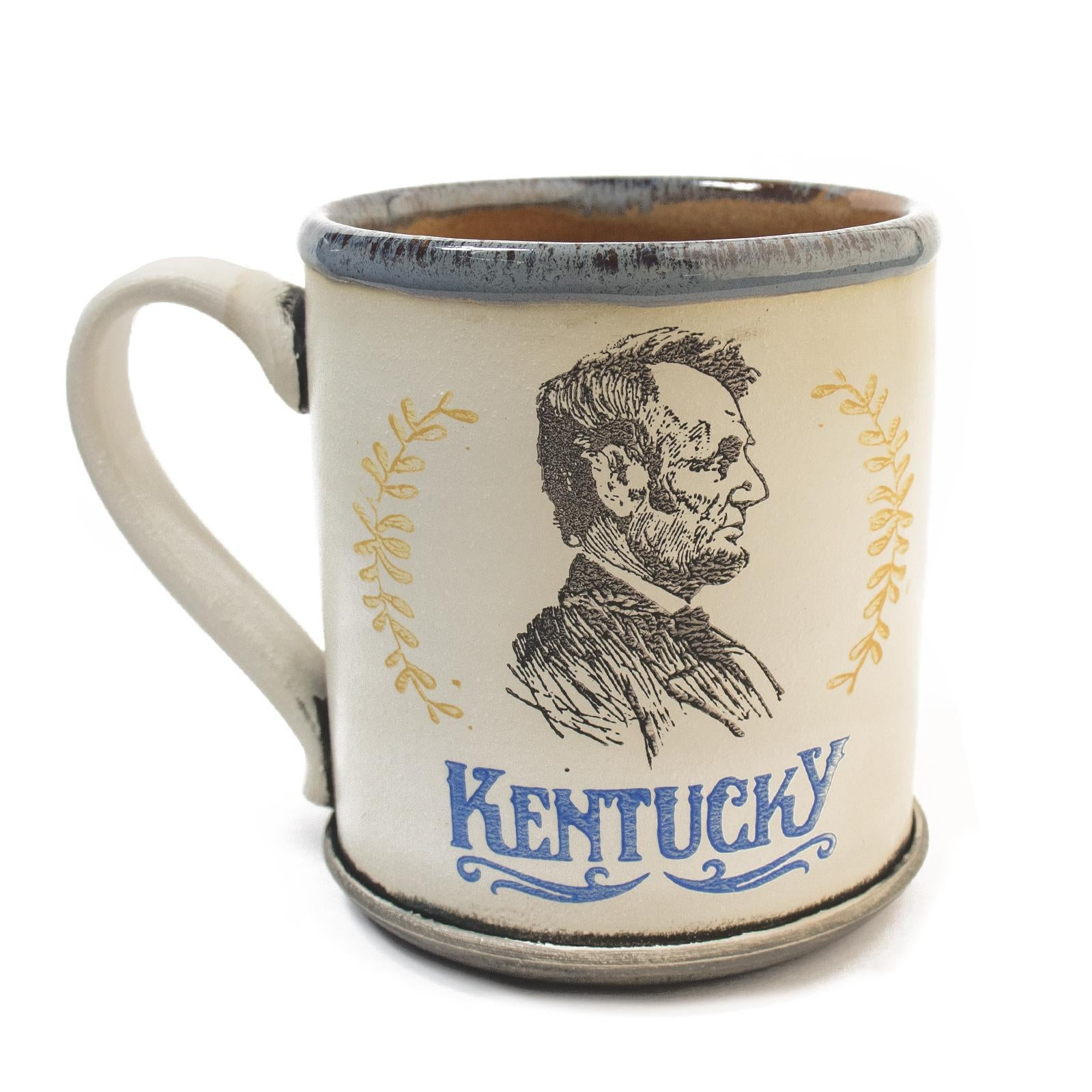 Abraham Lincoln Mugs by David Kenton Kring-Glass-KY for KY Store