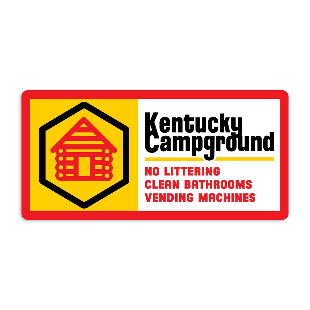 Kentucky Campground Sticker-Stickers-KY for KY Store