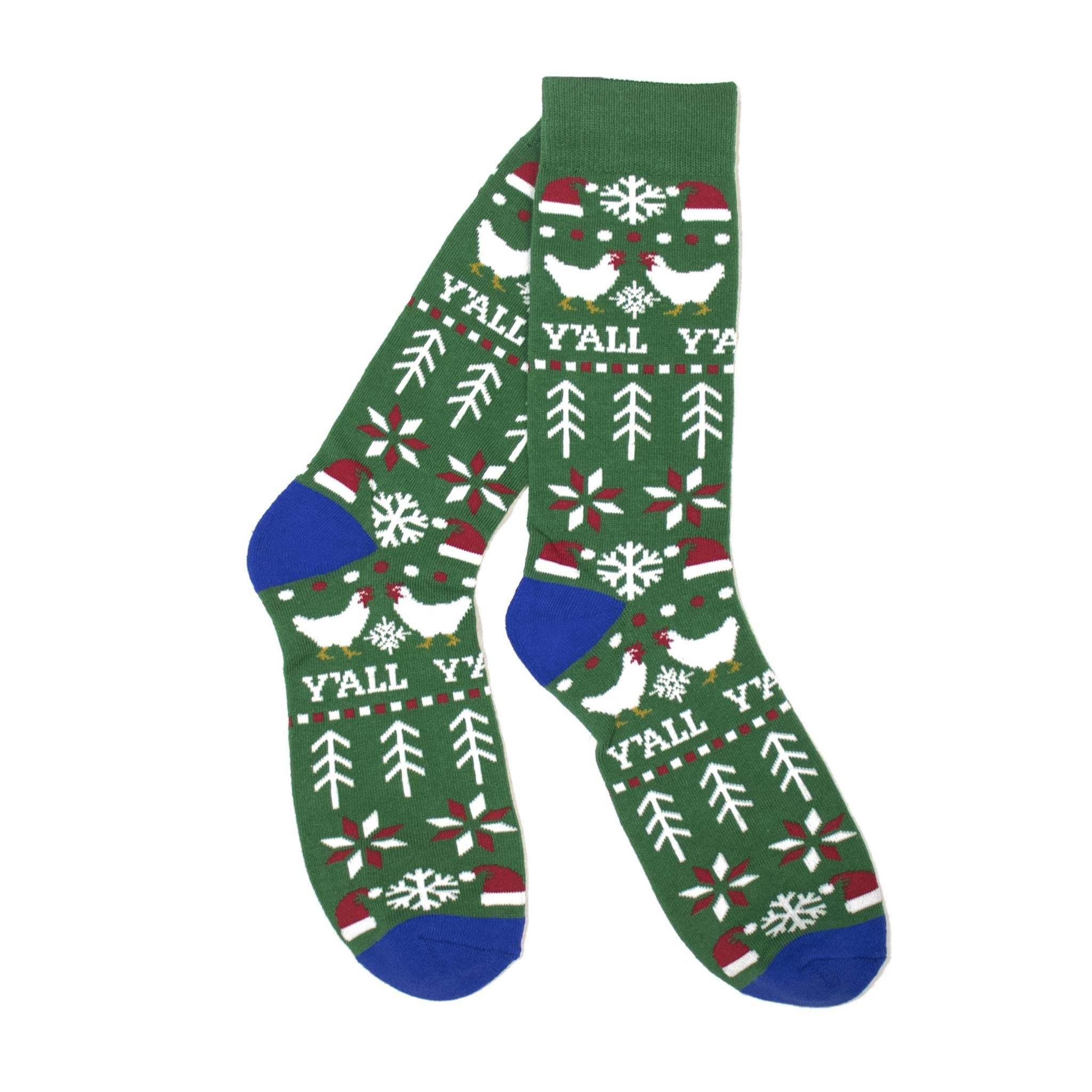 Christmas Sweater Socks (Green)-KY for KY Store