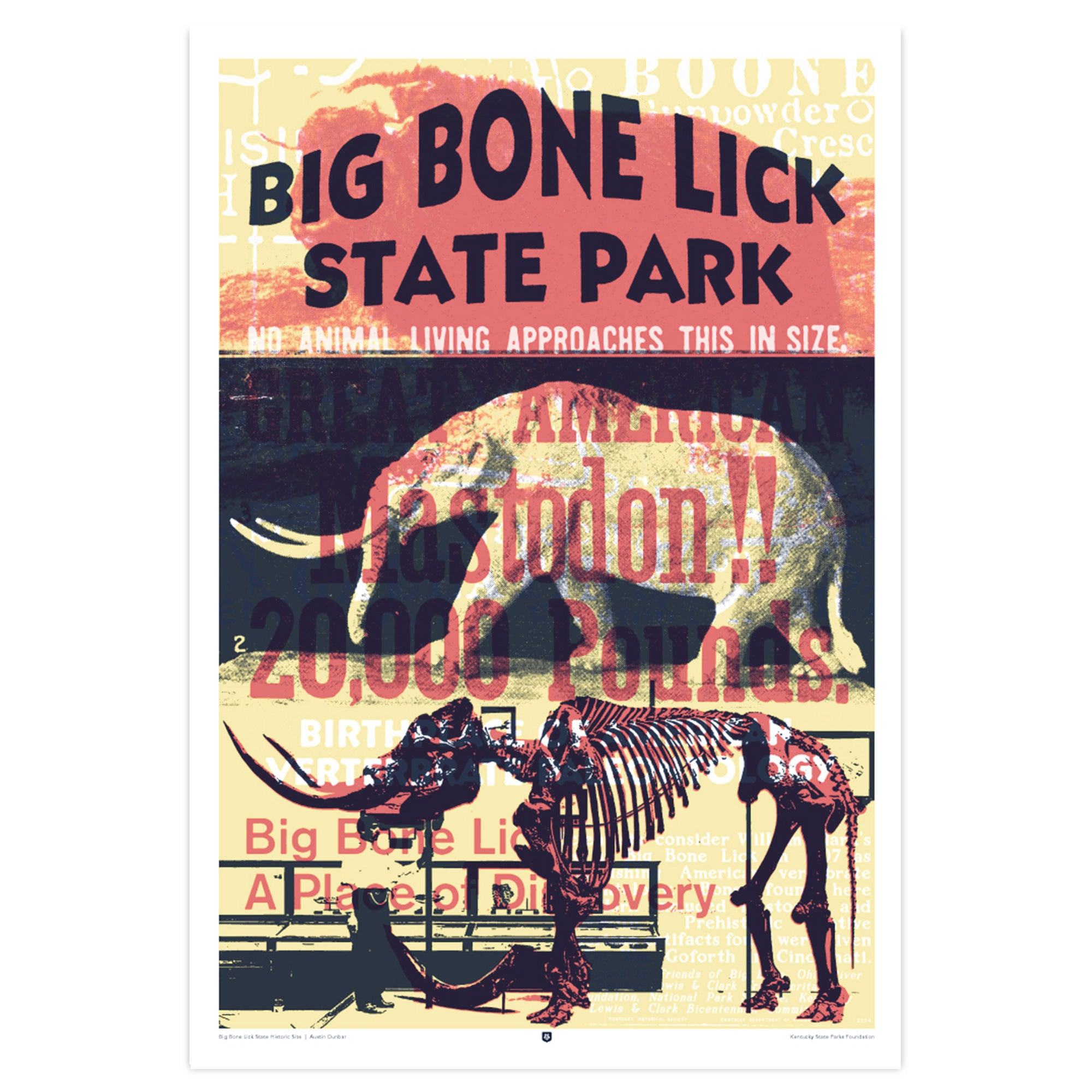 Big Bone Lick State Historic Site Poster by Austin Dunbar-Prints-KY for KY Store