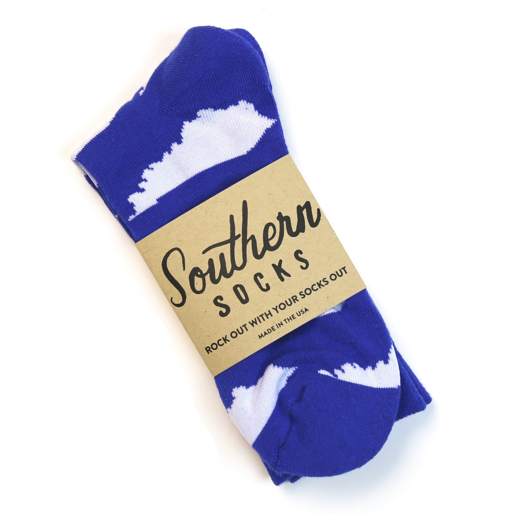 KY Shape Socks (Blue and White)-Socks-KY for KY Store
