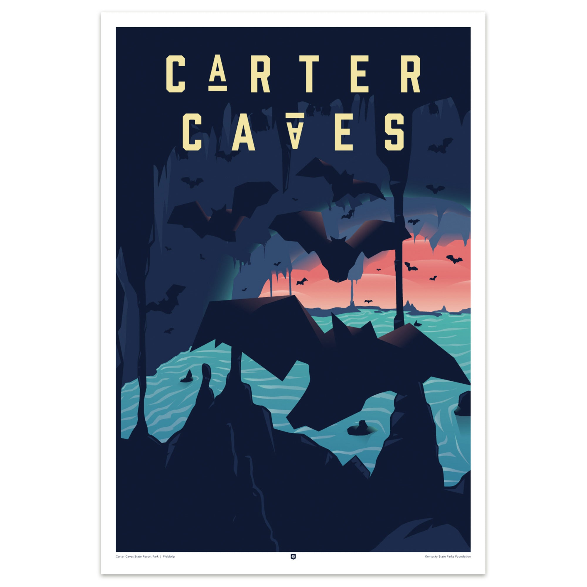 Carter Caves State Park Poster by Fieldtrip-Prints-KY for KY Store