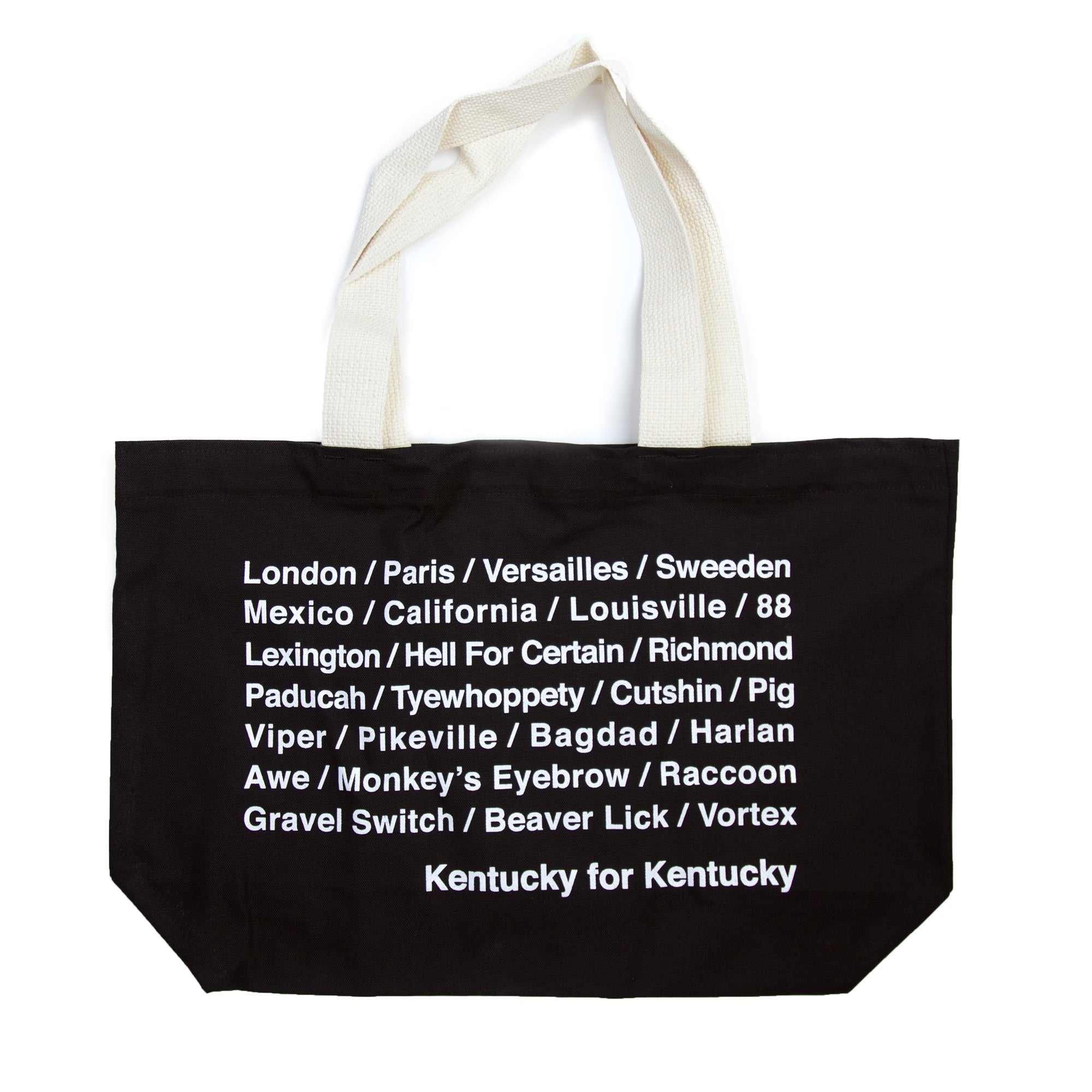 Kentucky Cities Tote Bag-Odds and Ends-KY for KY Store