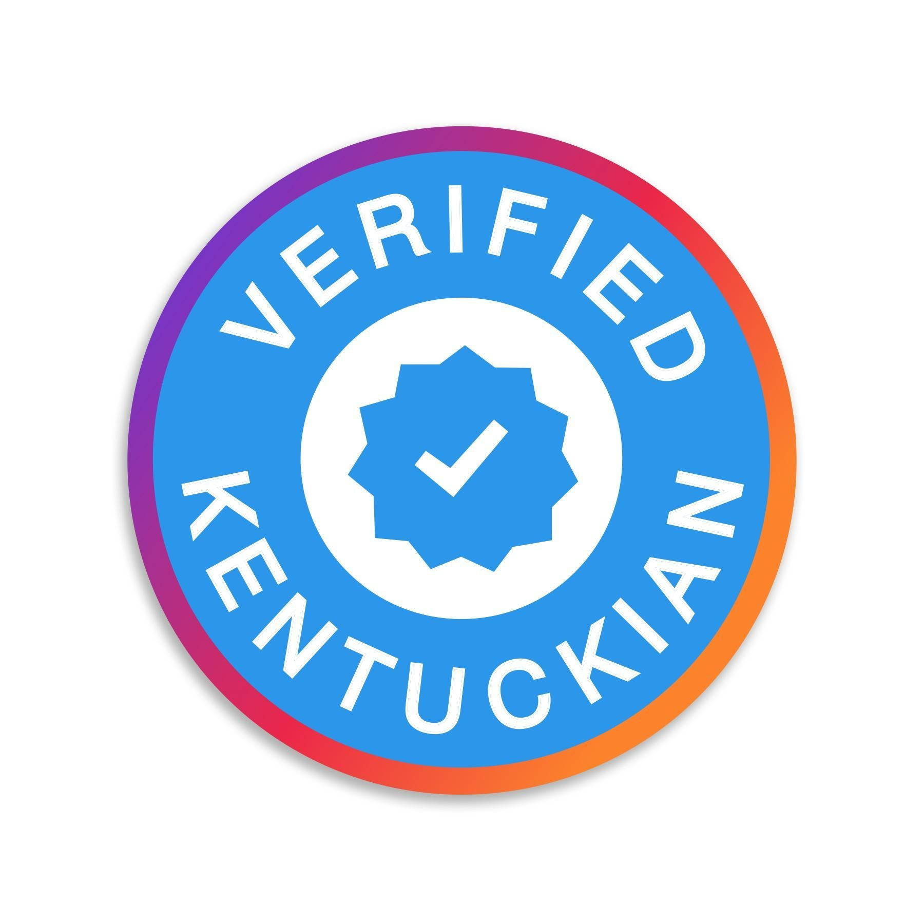 Verified Kentuckian-Stickers-KY for KY Store