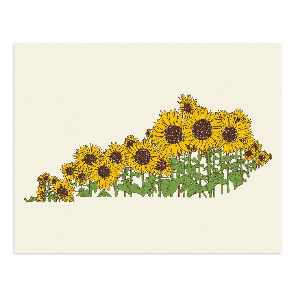 Sunflower Ky Print-Prints-KY for KY Store