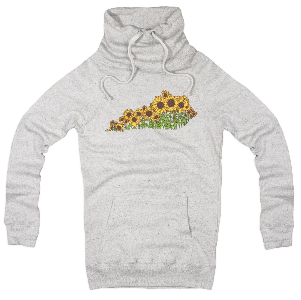Sunflower Ky Ladies Cowl Neck Sweatshirt-KY for KY Store