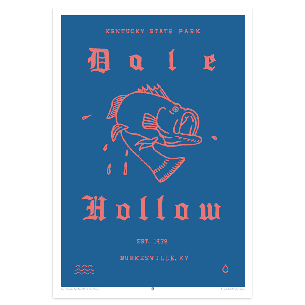 Dale Hollow State Park Poster by Kendall Regan-Prints-KY for KY Store