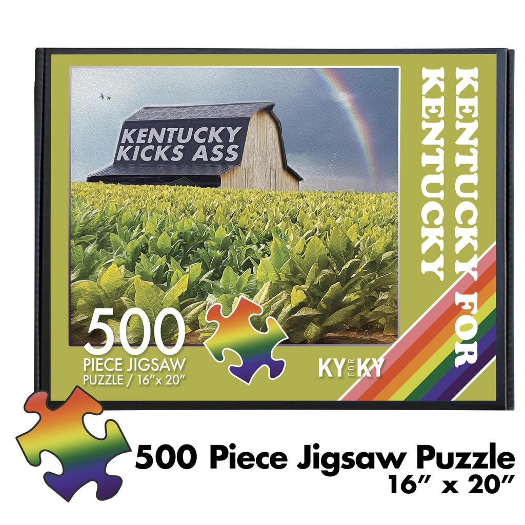 KY Kicks Ass Tobacco Barn Puzzle-Odds and Ends-KY for KY Store