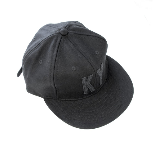 KY Ebbets Hat (Black and Black)-Hat-KY for KY Store