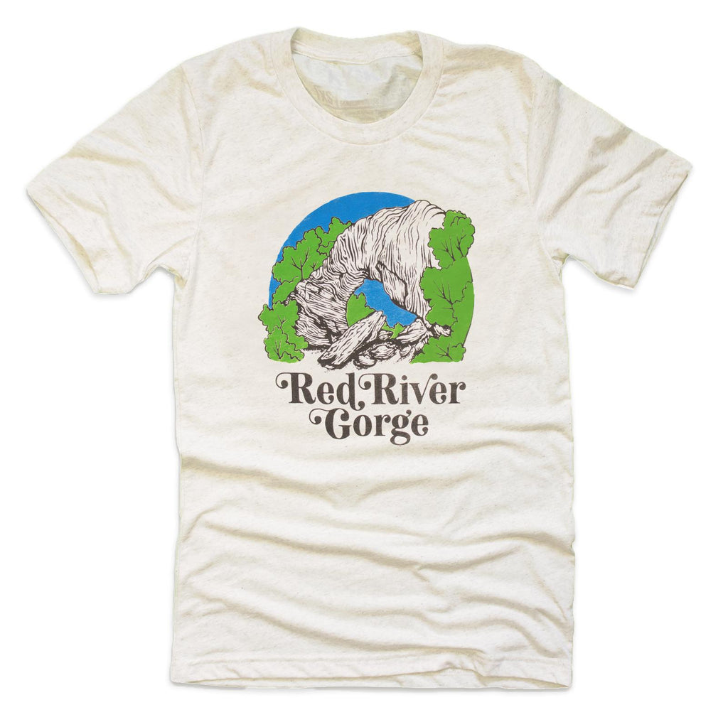 Red River Gorge T-Shirt (Oatmeal)-T-Shirt-KY for KY Store