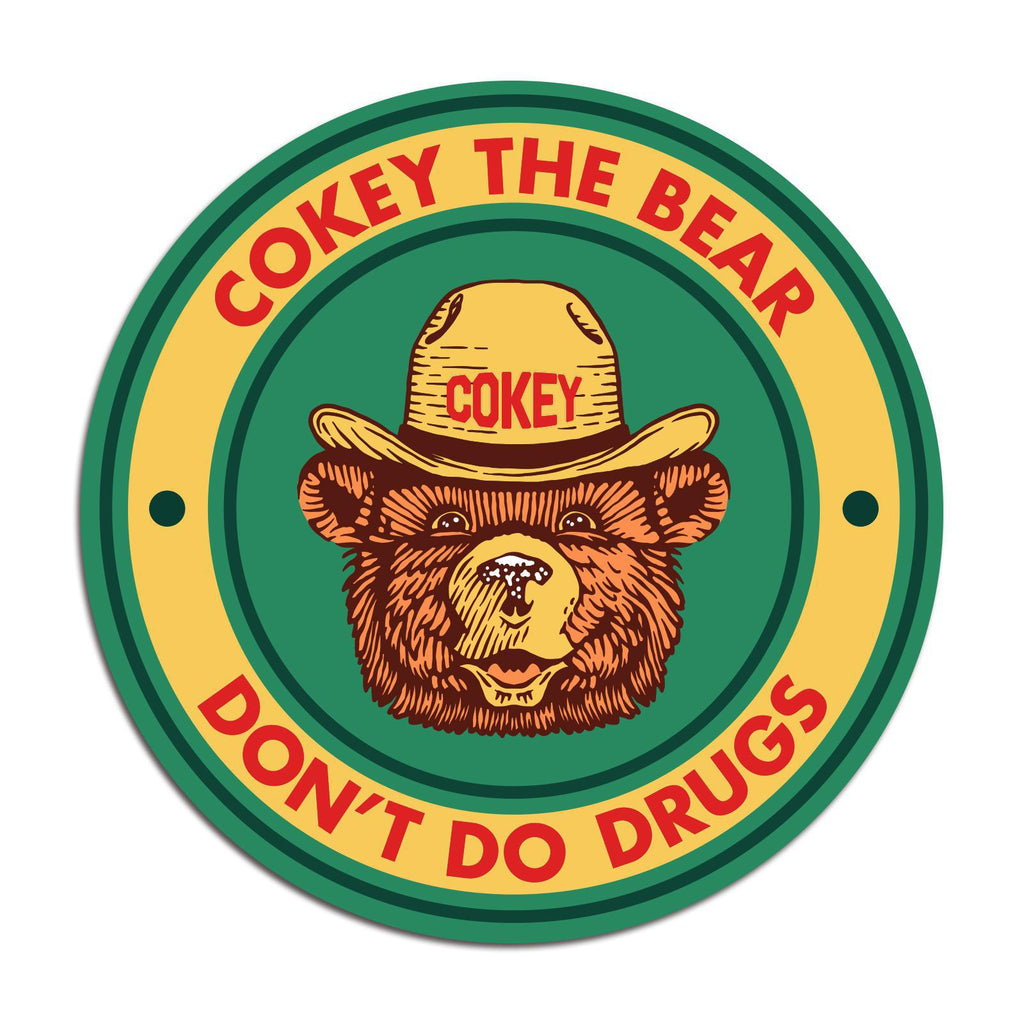 Cokey The Bear Sticker-Stickers-KY for KY Store