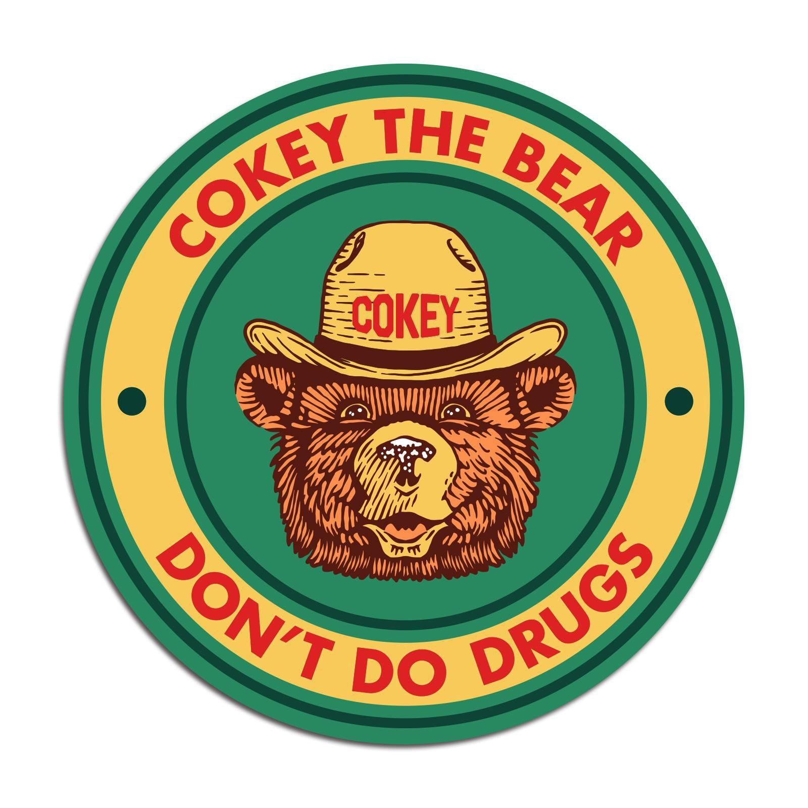 Cokey The Bear Sticker-Odds and Ends-KY for KY Store