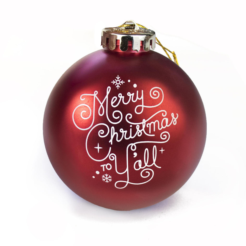 Merry Christmas to Y'all Ornament-Odds and Ends-KY for KY Store