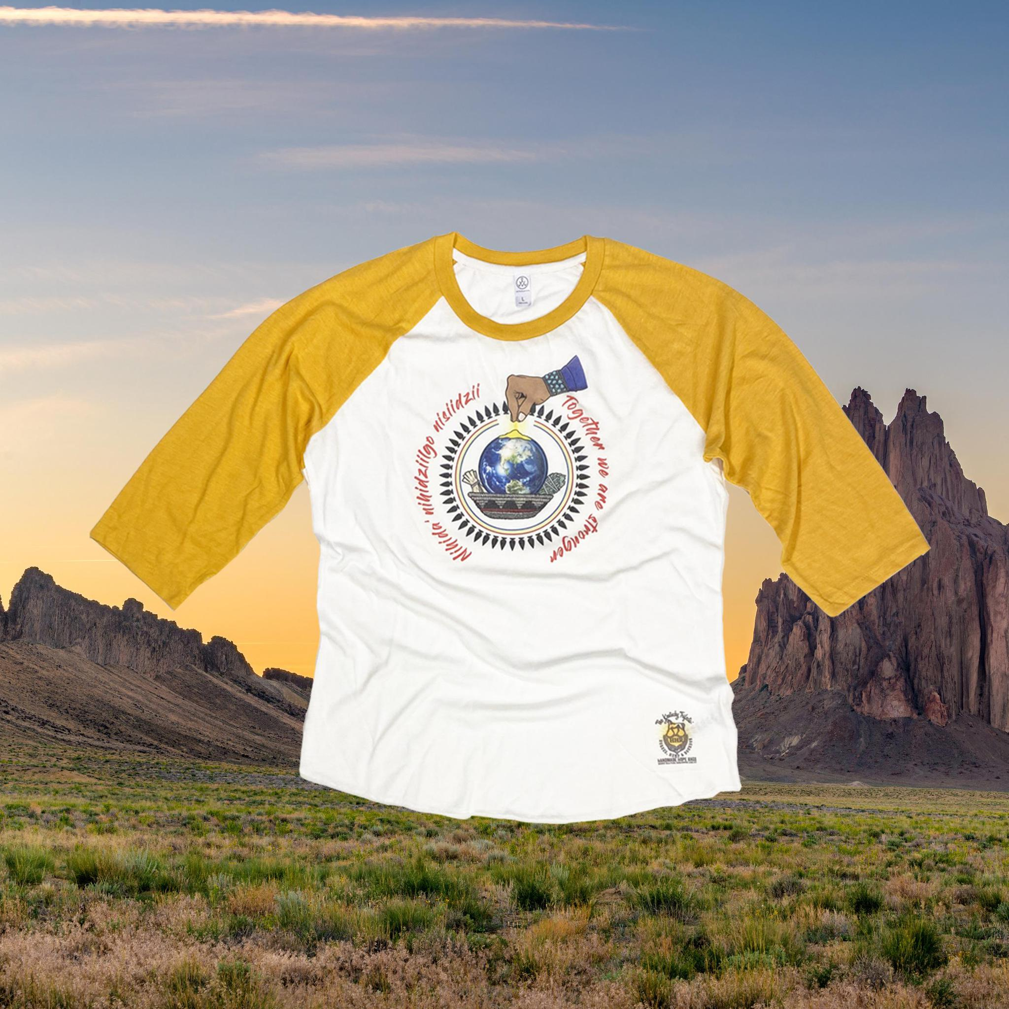 Navajo Nation Covid Relief Baseball Tee-Long Sleeve Shirt-KY for KY Store