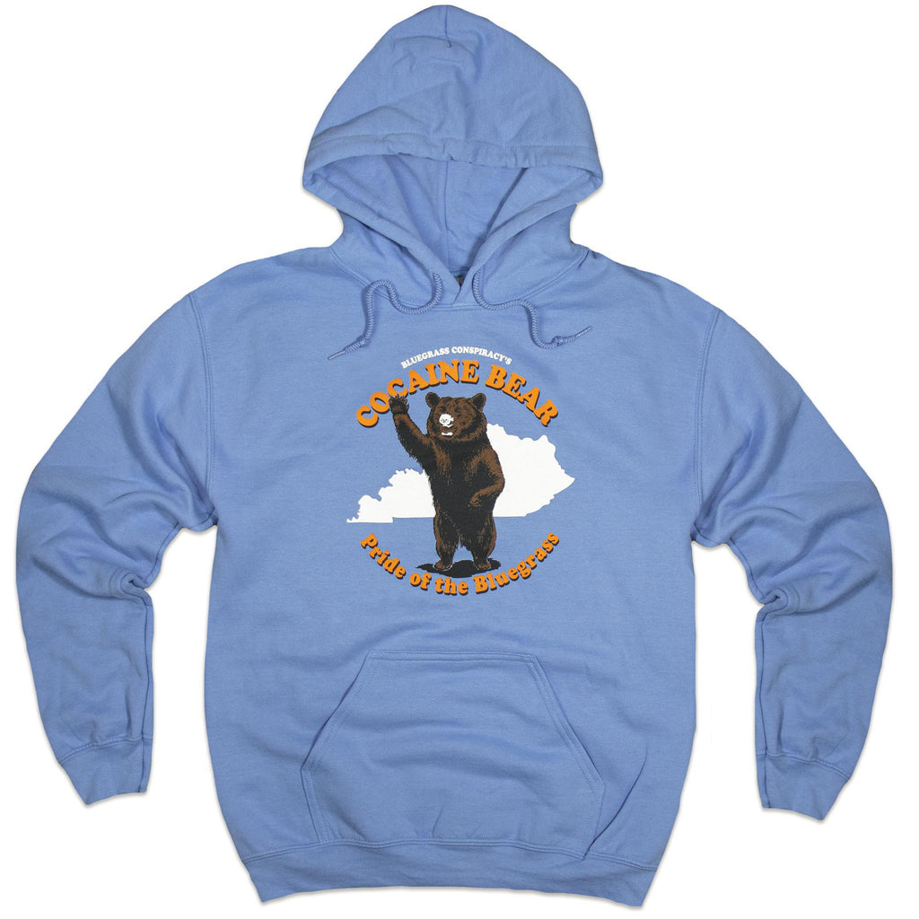 Cocaine Bear Hoodie (Blue)-Sweatshirt-KY for KY Store
