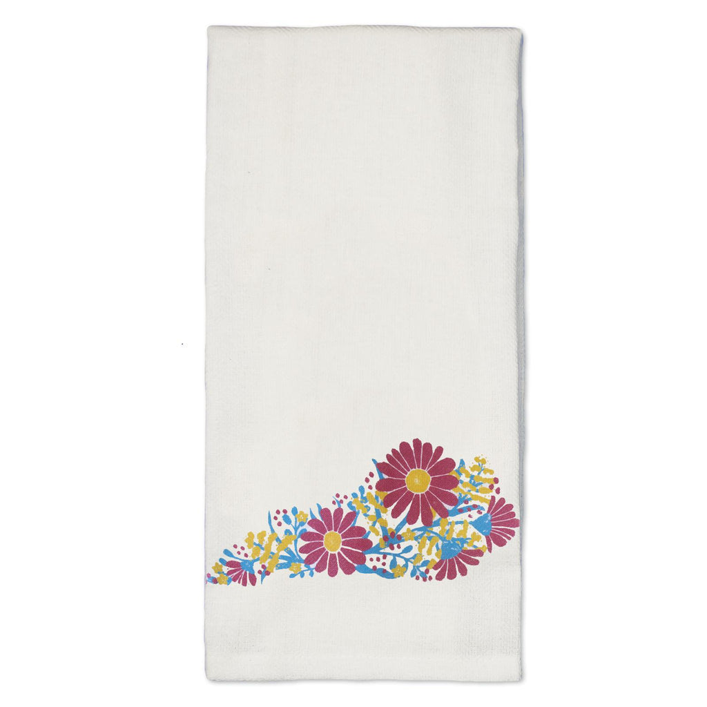 Flower KY Tea Towel-Odds and Ends-KY for KY Store