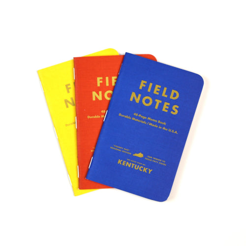 3-Pack Kentucky Field Notes-Odds and Ends-KY for KY Store