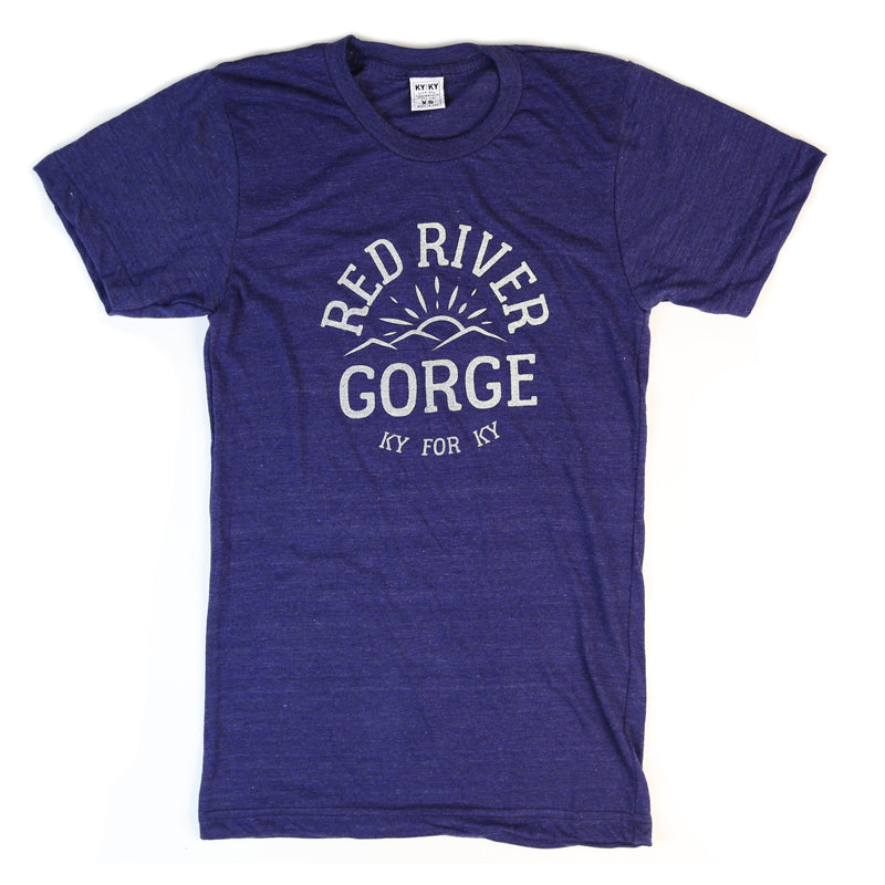 Red River Gorge T-Shirt (Blue)-T-Shirt-KY for KY Store