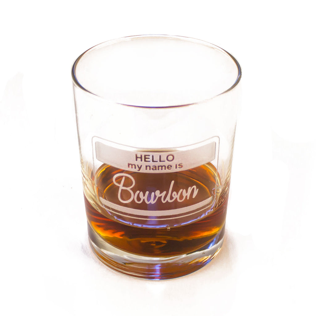 Hello, My Name Is Bourbon Glass-Glass-KY for KY Store