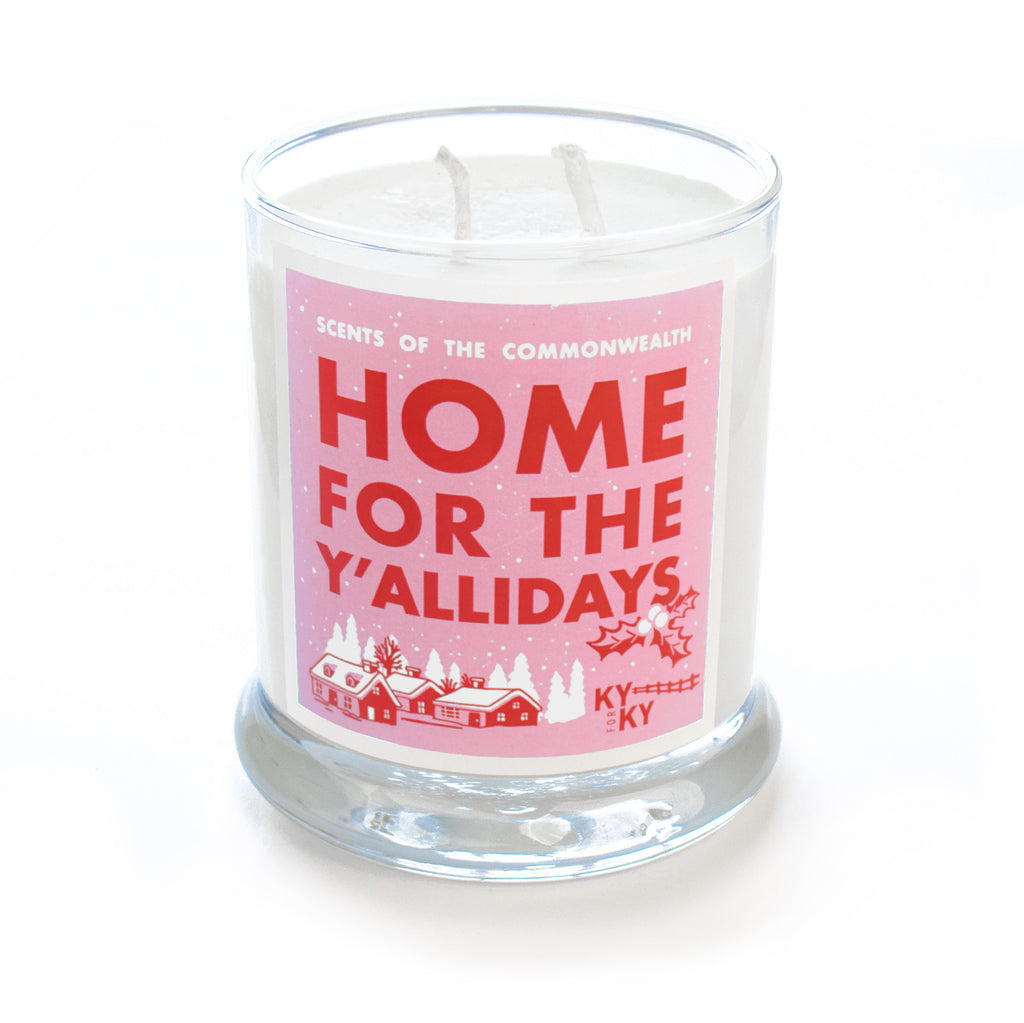Home For The Y'allidays Scented Candle-Odds and Ends-KY for KY Store