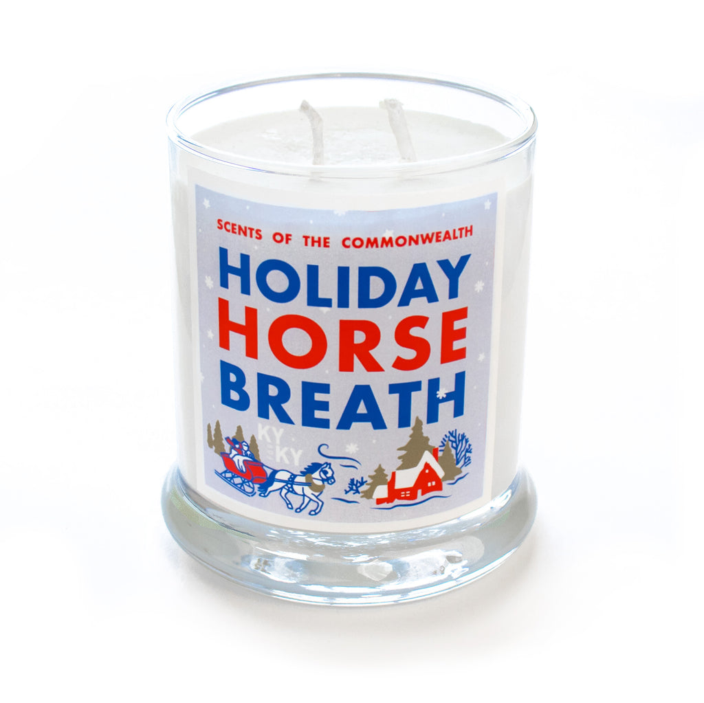 Holiday Horse Breath Scented Candle-Odds and Ends-KY for KY Store