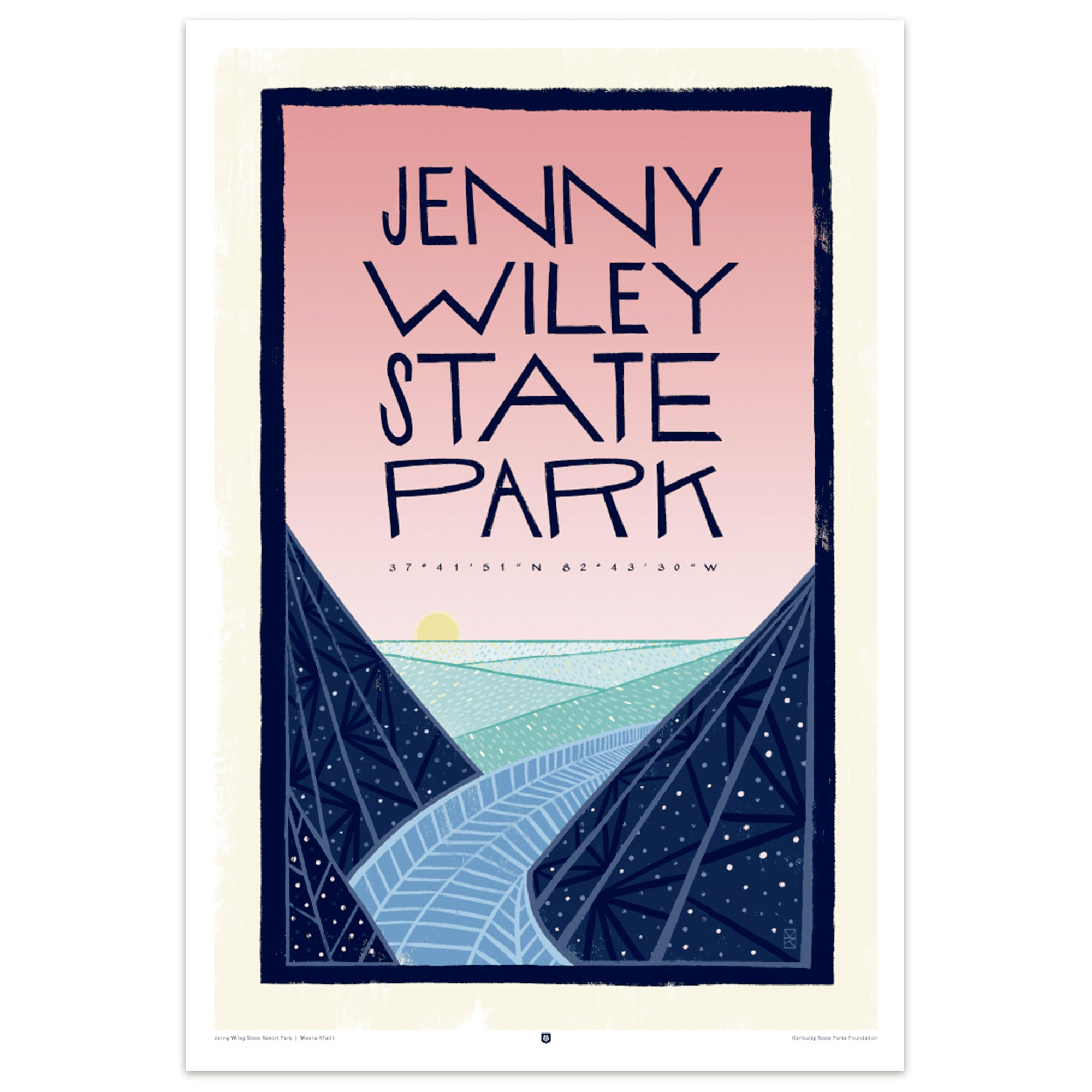 Jenny Wiley State Park Poster by Meena Khalili-Prints-KY for KY Store
