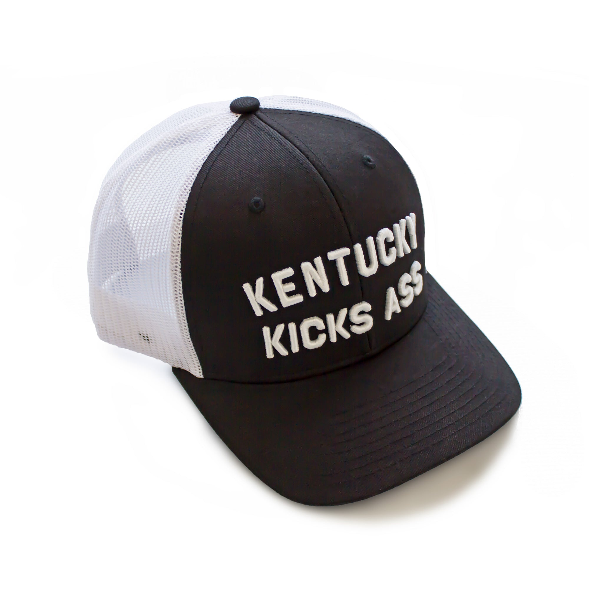 Kentucky Kicks Ass Trucker Hat (Black)-Hat-KY for KY Store