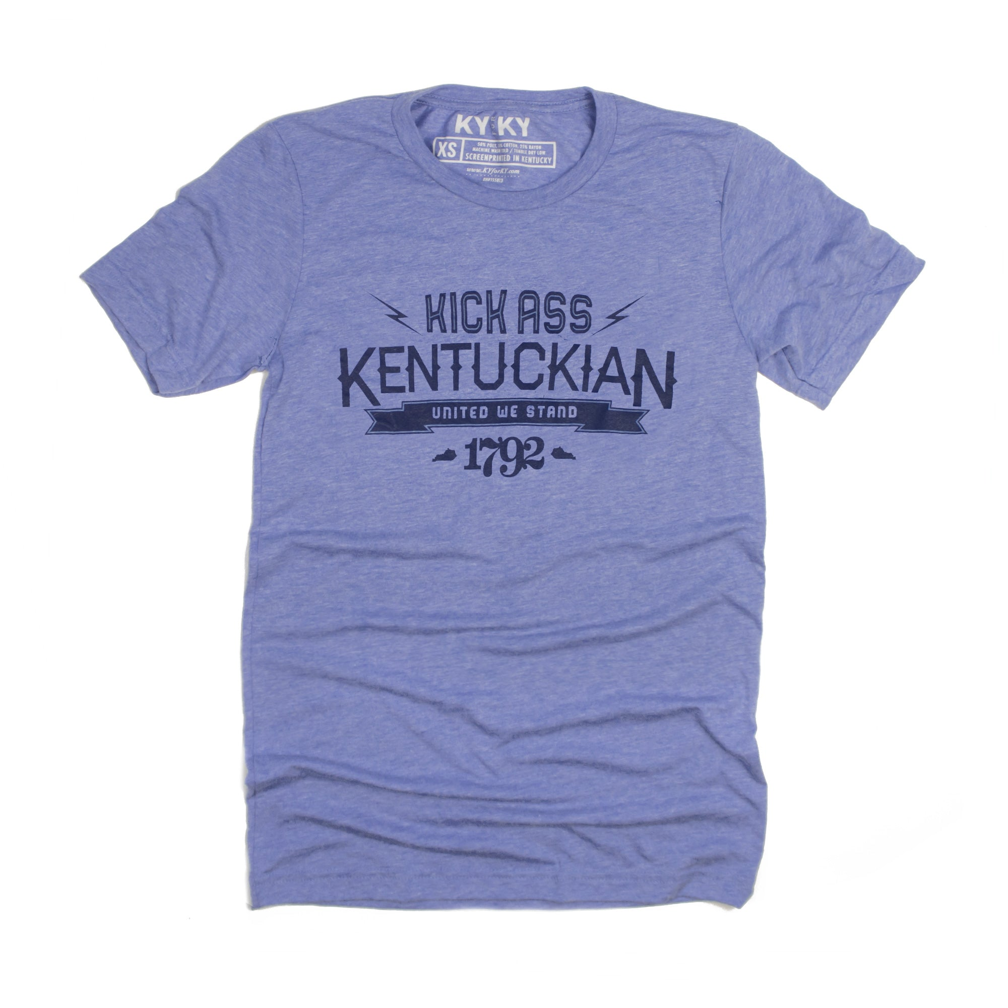 Kick Ass Kentuckian T-Shirt (Blue)-T-Shirt-KY for KY Store