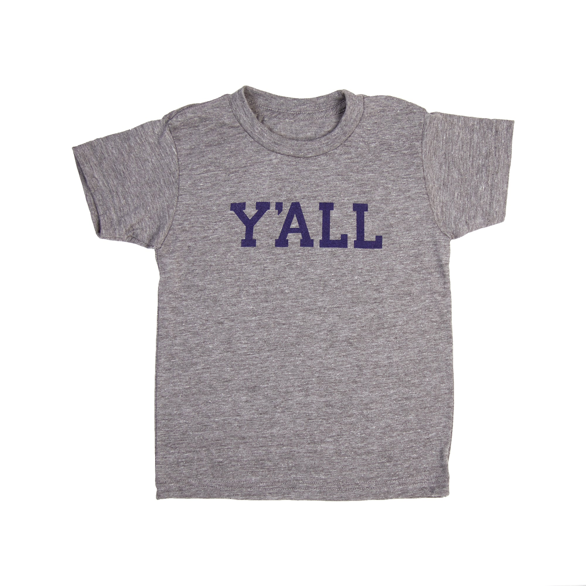 Y'ALL Kids T-Shirt (Grey)-T-Shirt-KY for KY Store