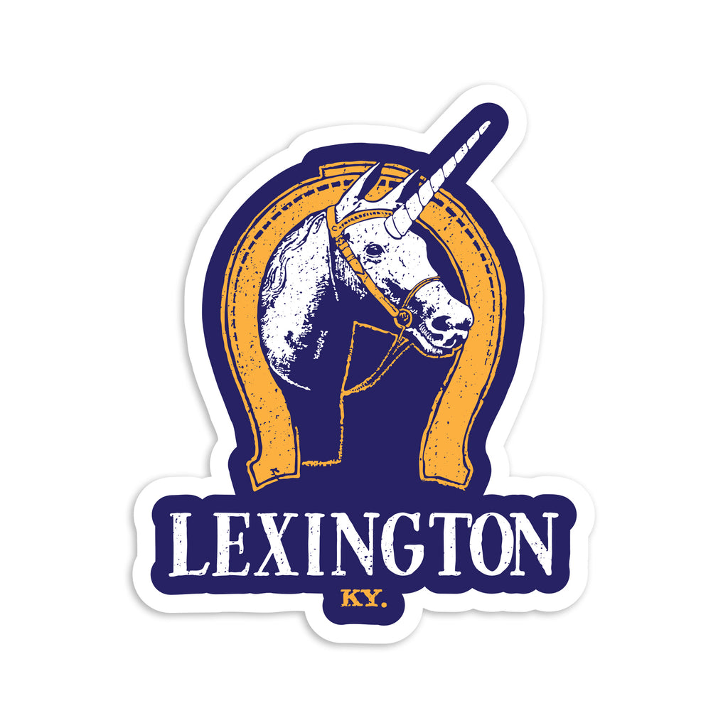 Lexington Unicorn Sticker-Odds and Ends-KY for KY Store
