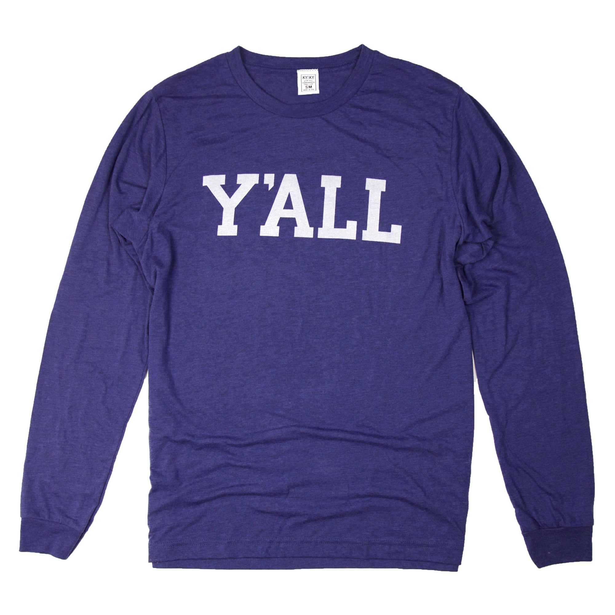 Long Sleeve Y'ALL Shirt (Blue)-T-Shirt-KY for KY Store