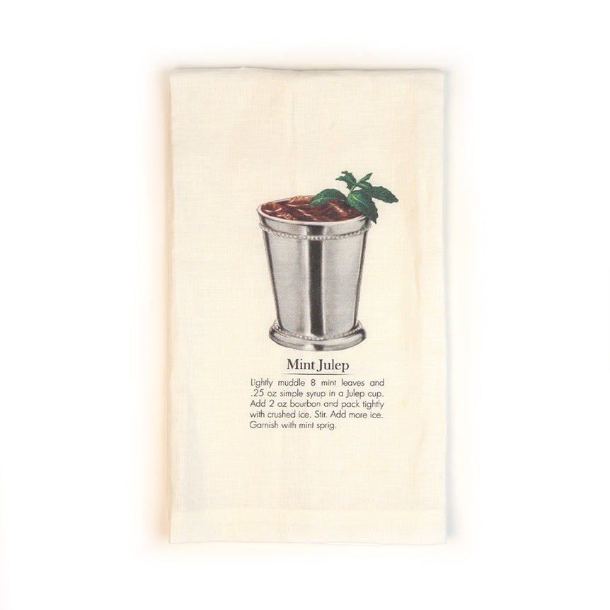 Mint Julep Cocktail Tea Towel-Odds and Ends-KY for KY Store