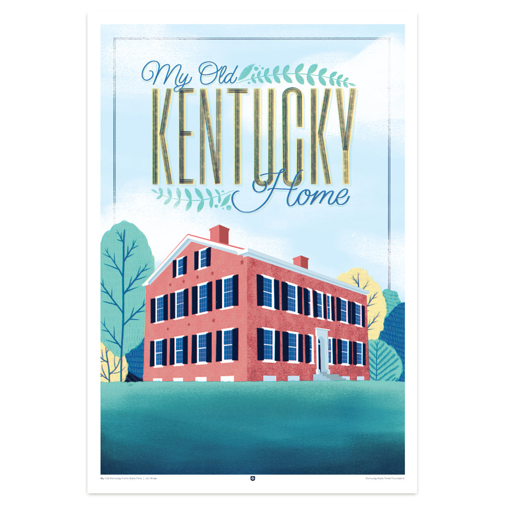 My Old Kentucky Home State Park Poster by Jon Shaw-Prints-KY for KY Store