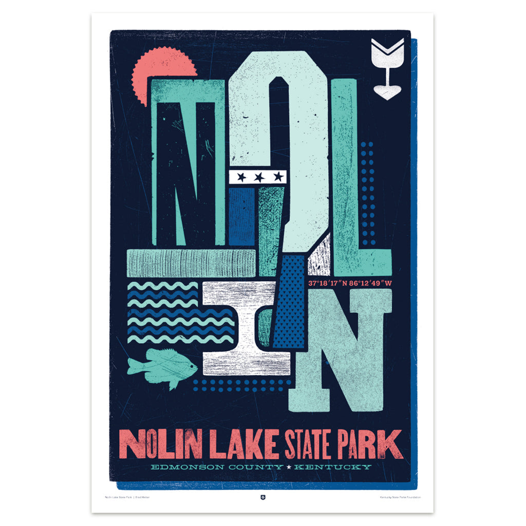 Nolin Lake State Park Poster by Brad Vetter-Prints-KY for KY Store