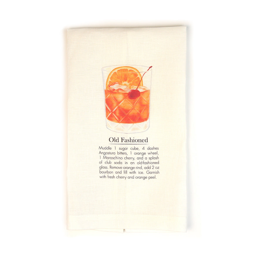 Old Fashioned Cocktail Tea Towel-Odds and Ends-KY for KY Store