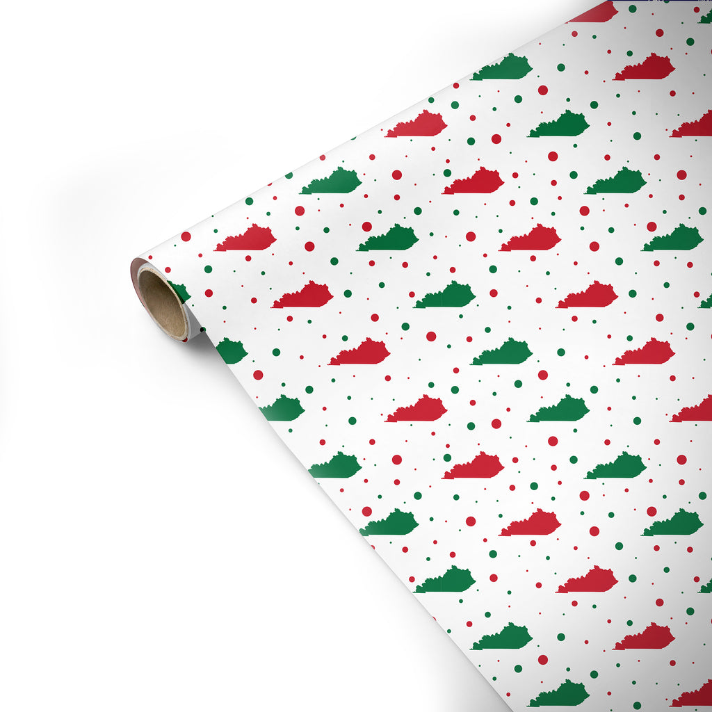 Red & Green KY Wrapping Paper-Odds and Ends-KY for KY Store