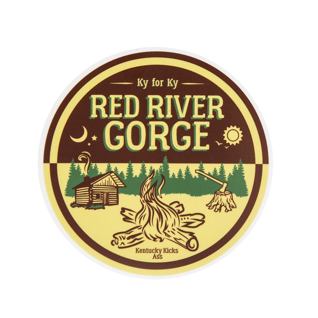 Red River Gorge Camp Sticker-Stickers-KY for KY Store