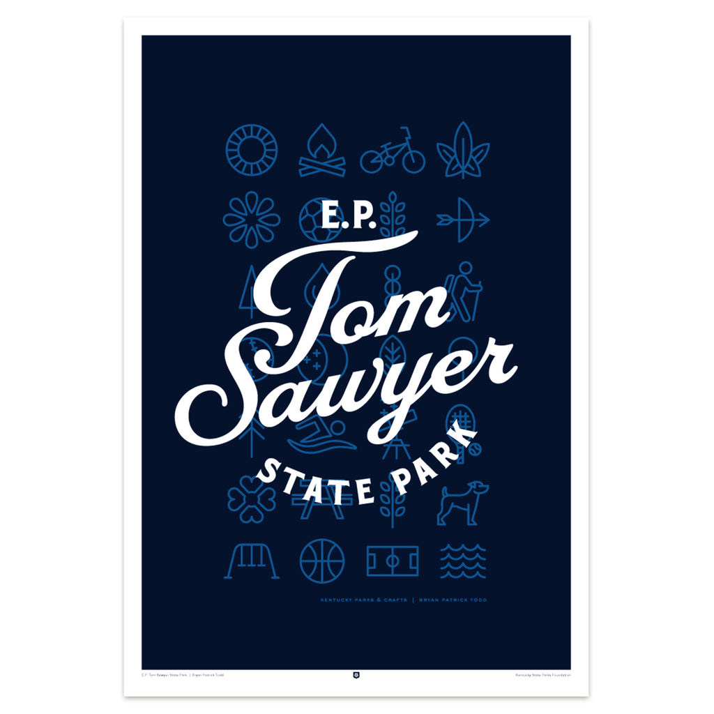 EP Tom Sawyer State Park Poster by Bryan Patrick Todd-Prints-KY for KY Store