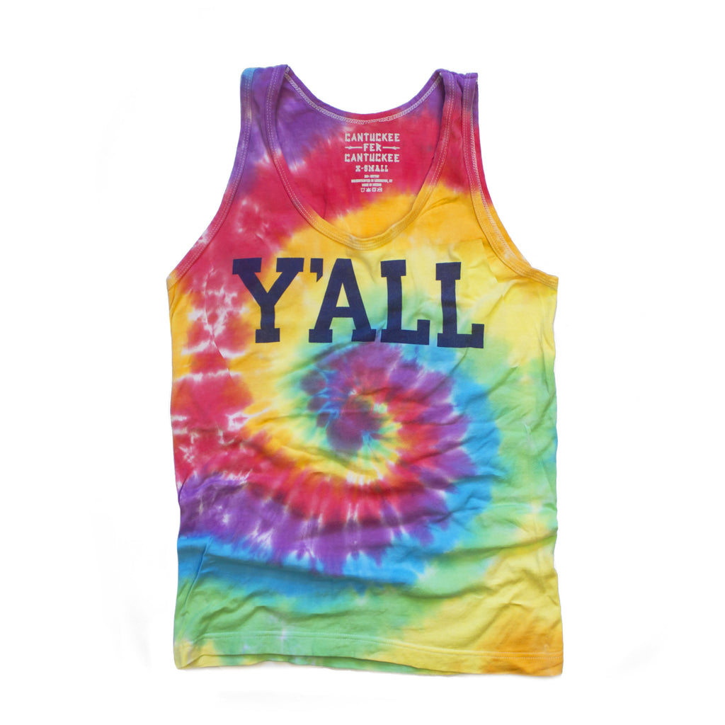 Tie-Dye Y'ALL Tank Top-Tank Top-KY for KY Store