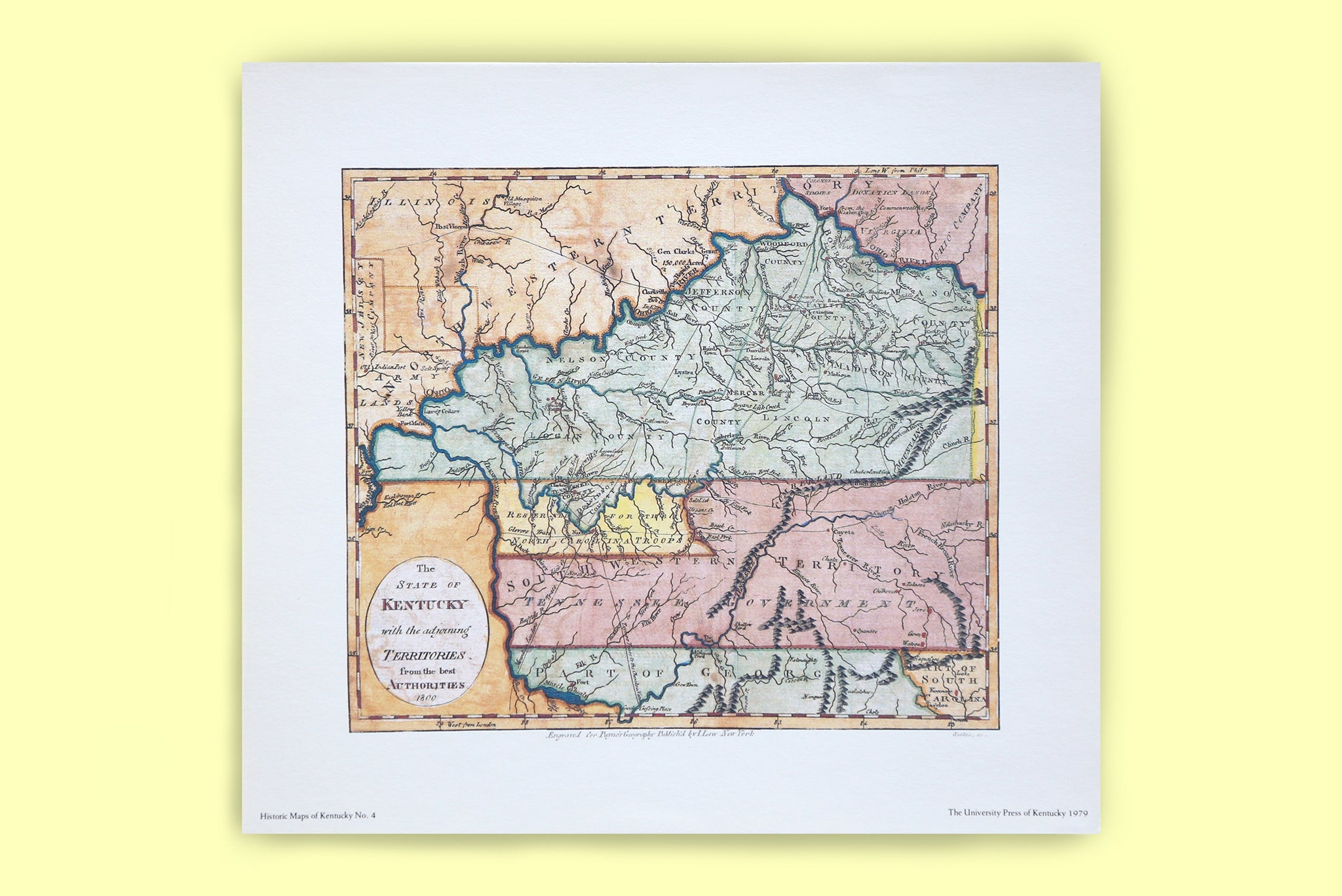 Vintage Historic Maps of Kentucky - Kentucky for Kentucky – KY for ...