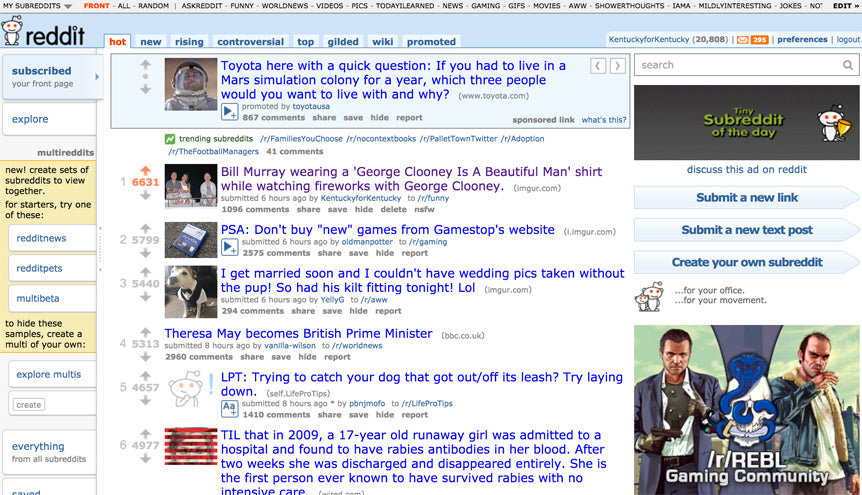 Redditt front page Clooney Beautiful Man