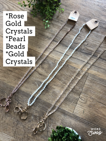 All Jeweled Up Long Necklace Lanyards