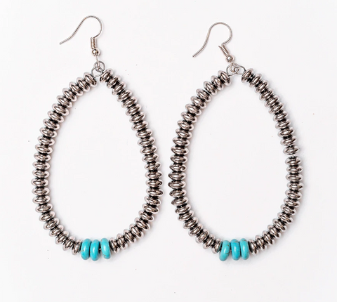 Turquoise Disk Earring